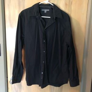 Old Navy Black Long Sleeve Button Shirt Sz L
